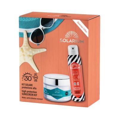 Solarium Kit Protezione Alta Spray Spf30 + Doposole Idratante Elasticizzante