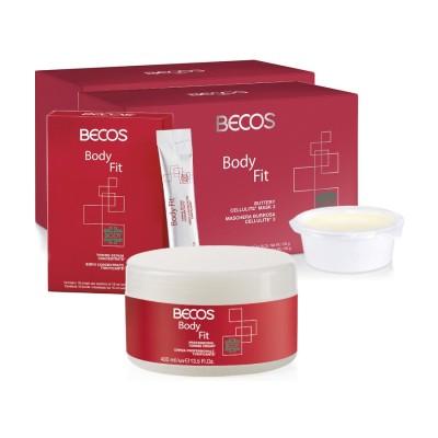 Body Fit Professional- Mask (10) Celulite E Soro (10) + Creme Tonificante 400ml