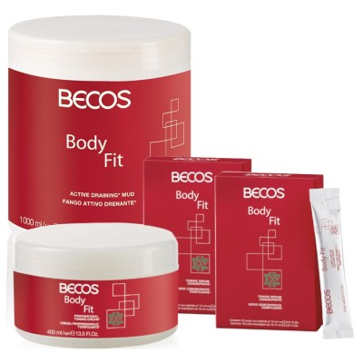 Body Fit Professional- Lodo De Drenagem E Soro (20) Celulite +cr.400 Ml Tónico