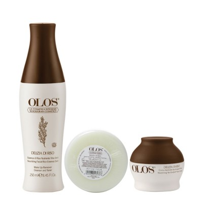 Delizia Di Riso- Sabonete Facial + Essência De Arroz 3 Em 1 E Creme Nutritivo No-oxidant