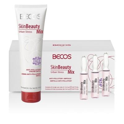 Skin Beauty Mix Urban Stress- Ampolle (24) & Cremamax Viso Anti-inquinamento